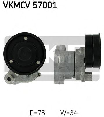 Натяжной ролик, поликлиновой  ремень SKF арт. VKMCV57001