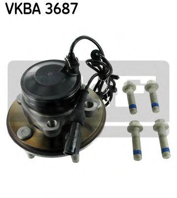 Комплект подшипника ступицы колеса  арт. VKBA3687