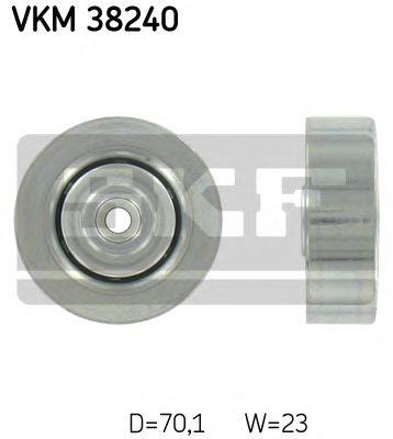 Фото - Паразитный / ведущий ролик, поликлиновой ремень SKF - VKM38240