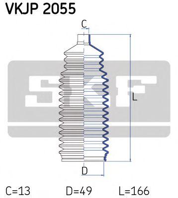 SKF TOYOTA К-т пыльника рулевой рейки Avensis 1,8 -03, OPEL Vectra B, Daewoo. SKF VKJP2055