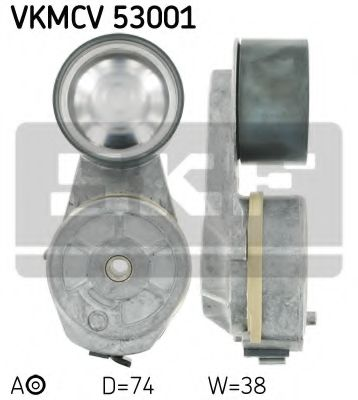 Натяжной ролик, поликлиновой  ремень SKF арт. VKMCV53001