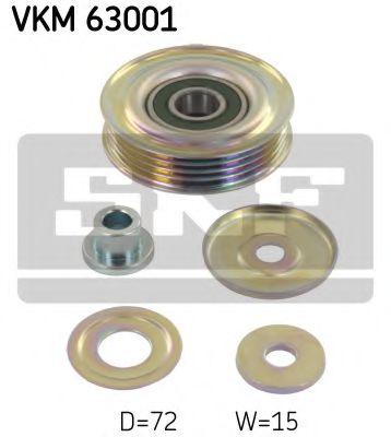 70X17X15 (металевий) Натяжний ролик поліклинового паска Honda Accord VI/Civic VI/Subaru Forester/Impreza/Legacy 1.5-2.5 08.92-  SKF VKM63001