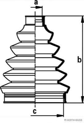 Комплект пылника, приводной вал BLUEPRINT арт. J2862014
