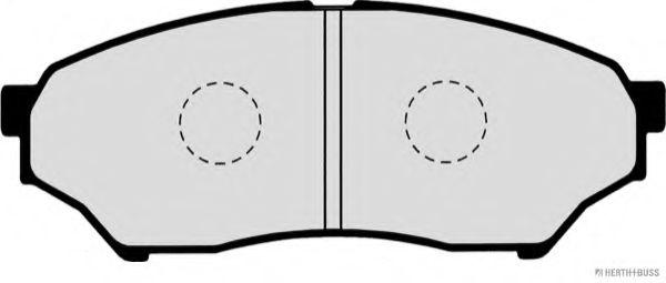 Колодки гальмівні дискові, комплект HERTHBUSSJAKOPARTS J3605039