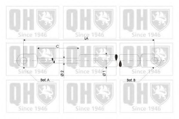 Газовые пружины (амортизаторы) Газовая пружина задней двери Opel Omega A Caravan QUINTONHAZELL арт. QTS128362