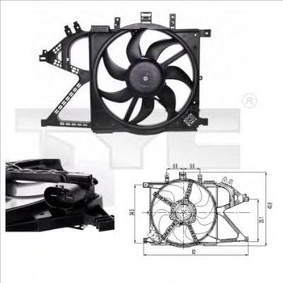 Вентилятор двигуна Opel Combo, 00-11 TYC 8250007