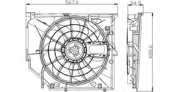 Вентилятор радіатора TYC 8030005