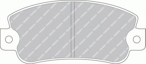 Комплект тормозных колодок, дисковый тормоз  арт. FDB351B
