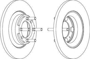 Гальмівний диск  арт. DDF1011