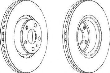Тормозной диск FERODO DDF1277C1