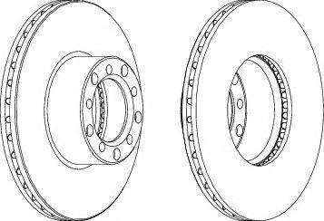 Тормозной диск Ferodo  арт. DDF1421
