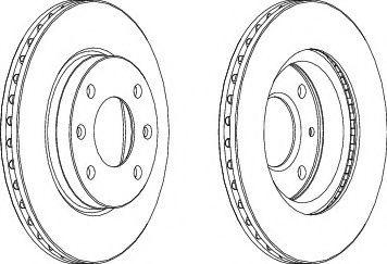 Тормозной диск  арт. DDF1541