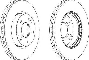 Тормозной диск  арт. DDF16191
