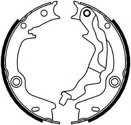 Гальмівні колодки, барабанні FERODO FSB4046