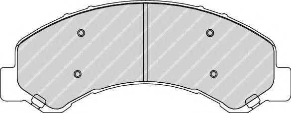 Комплект тормозных колодок, дисковый тормоз  арт. FCV1853