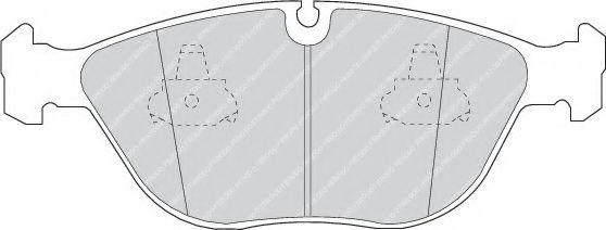 Колодки тормозные дисковые, к-кт.  арт. FDB1001