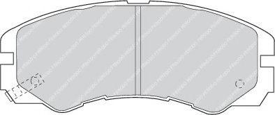 Тормозные колодки дисковые  арт. FDB1015