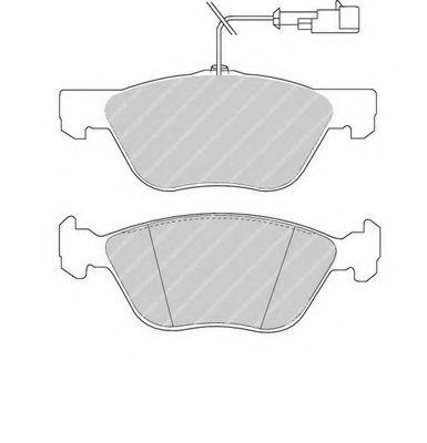Колодки тормозные дисковые, к-кт.  арт. FDB1052