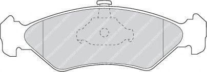 Brake pad set ROULUNDSBRAKING 633481
