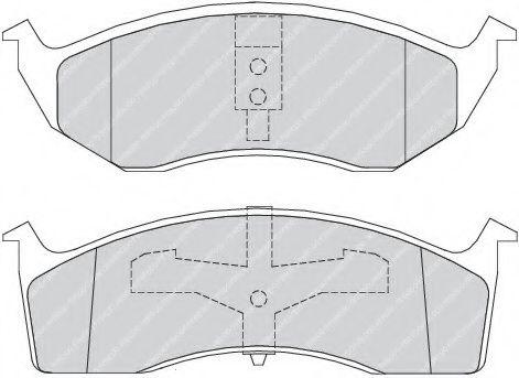 Колодки гальмівні дискові  арт. FDB1098