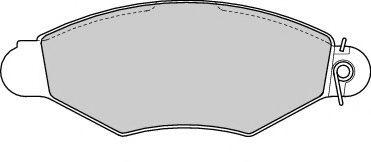 Brake pad set ROULUNDSBRAKING 673281