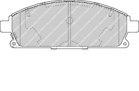 Колодки тормозные передние Nissan X-Trail 01-13/Pathfinder 97-04 (sumitomo) (159x55,9x16)  арт. FDB1263