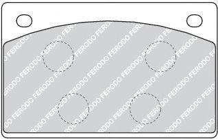 Тормозные колодки дисковые  арт. FDB1296