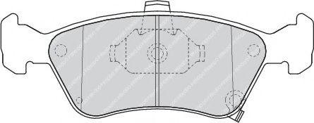 Гальмівні колодки дискові перед. Toyota Avensis 1.6I 16V 97- FERODO FDB1321