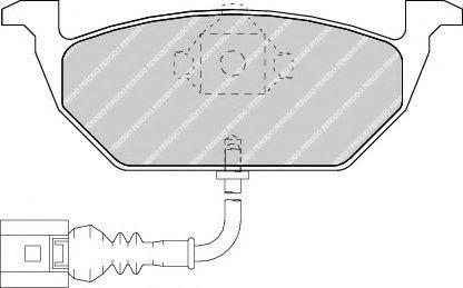 Дисковые тормозные колодки, комплект JP GROUP арт. FDB1398