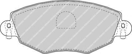 Колодки тормозные дисковые, к-кт.  арт. FDB1425