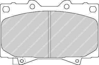 Гальмівні колодки дискові перед.Toyota Land Cruiser Prado II (J120) 02-/Hilux 07- FERODO FDB1456