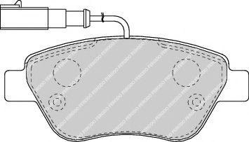 Колодки тормозные пер. Doblo/Nemo/Bipper (Bosch) с датчиком  арт. FDB1466