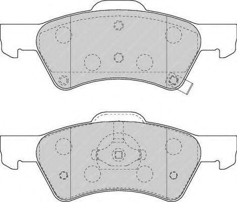 Колодки гальмівні дискові  арт. FDB1510