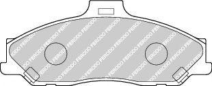Комплект тормозных колодок, дисковый тормоз  арт. FDB1527