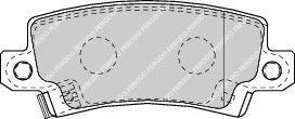 Гальмівні колодки дискові зад. Toyota Corolla 02- FERODO FDB1574