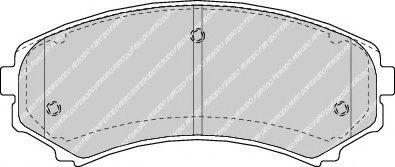 Гальмівні колодки дискові перед. Mazda Mpv 2,5TD/2,6I 93- FERODO FDB1603