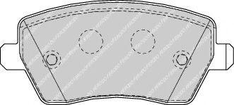 Brake pad set belaco TBP1399