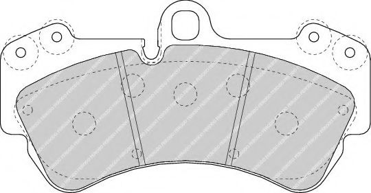 Гальмівні колодки дискові перед. VW Touareg 3.0TDI-6.0W12 02- /Porsche Cayenne FERODO FDB1625