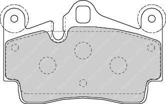 Гальмівні колодки дискові зад. VW Touareg 2.5 04-10 Porsche Cayenne 3.2 02- FERODO FDB1627