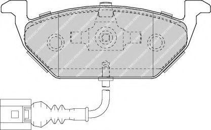 Дисковые тормозные колодки, комплект JP GROUP арт. FDB1635