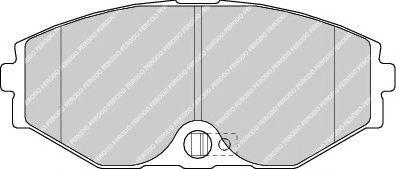 Комплект тормозных колодок, дисковый тормоз  арт. FDB1682