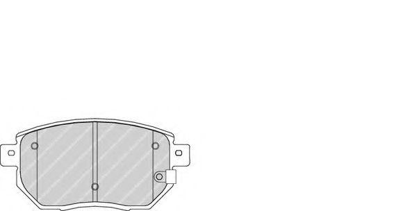 Гальмівні колодки дискові перед..Nissan Murano 05- Infinity FX 3.5  FERODO FDB1786