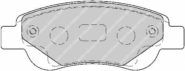 Тормозные колодки Ferodo  арт. FDB1790