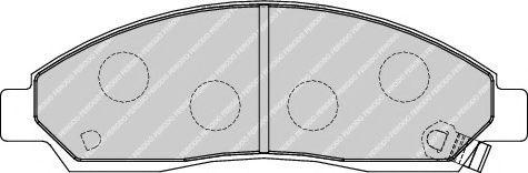 Комплект тормозных колодок, дисковый тормоз  арт. FDB1816