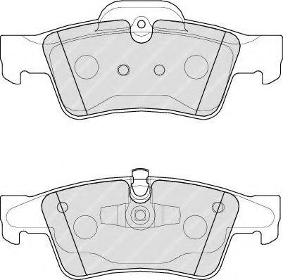 Гальмівні колодки дискові зад. DB X164 06-, GL-Klasse 06- FERODO FDB1831