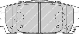 Комплект тормозных колодок, дисковый тормоз  арт. FDB1841