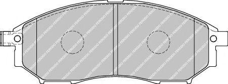Колодки гальмівні дискові  арт. FDB1881