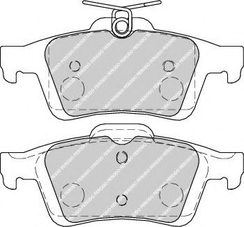 Колодки тормозные задние Ford Focus II/C-Max 03-12 (ATE)  арт. FDB1931