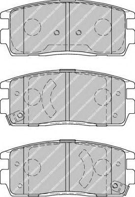 Колодки тормозные дисковые, к-кт.  арт. FDB1935