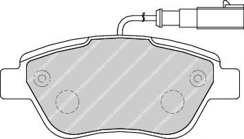 Гальмівні колодки дискові перед. Fiat Stilo 01,04/Grande Punto/Doblo 05/Bravo -07 FERODO FDB1946